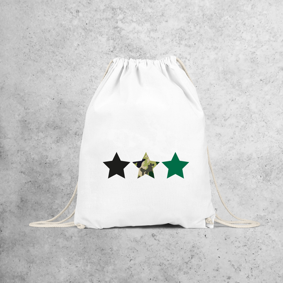 Camouflage stars backpack