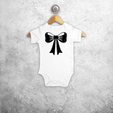 Bow baby shortsleeve bodysuit