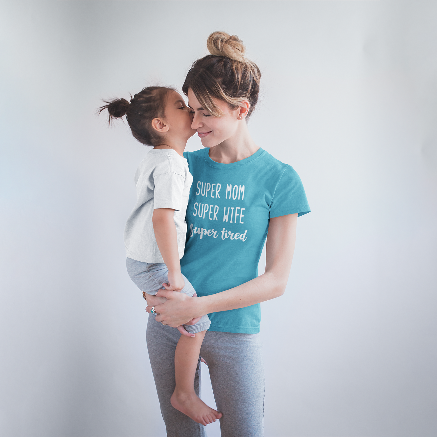 'Super mom / Super wife / Super tired' adult shirt