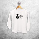 Pineapple kids longsleeve shirt