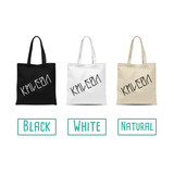 'Don't panic, I'm organic' tote bag