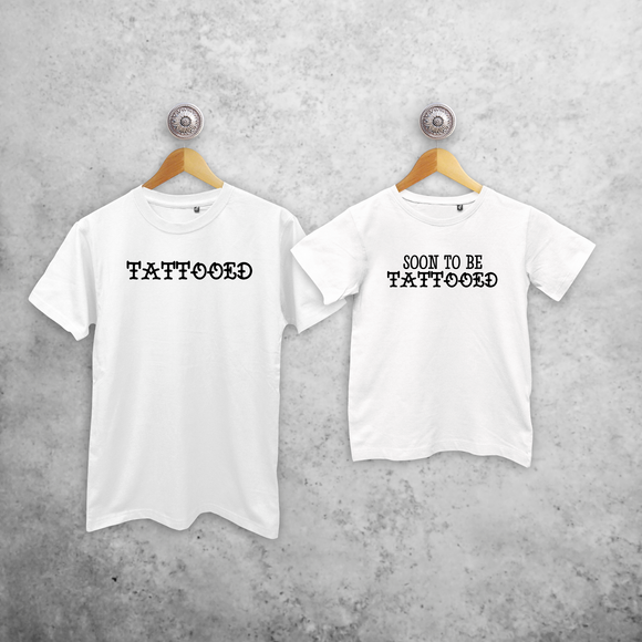 'Tattooed' & 'Soon to be tattooed' matching shirts