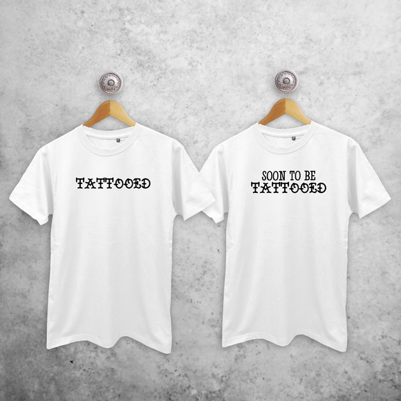 'Tattooed' & 'Soon to be tattooed' couples shirts