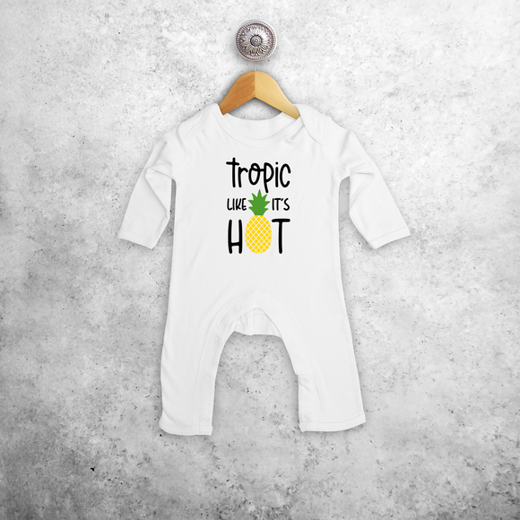 'Tropic like it's hot' baby romper