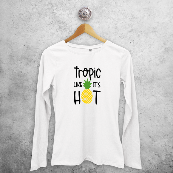 'Tropic like it's hot' volwassene shirt met lange mouwen