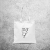 'True love' pizza tote bag