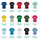 Colour options for adult shirts with short sleeves by KMLeon.