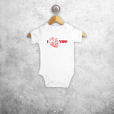 Anatomically correct heart baby shortsleeve bodysuit