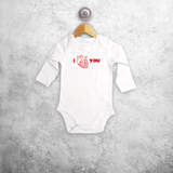 Anatomically correct heart baby longsleeve bodysuit