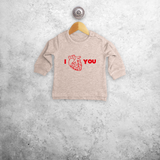 Anatomically correct heart baby sweater
