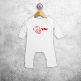 Anatomically correct heart baby romper