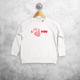 Anatomically correct heart kids sweater