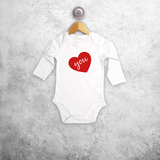 Big heart baby longsleeve bodysuit