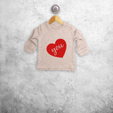 Big heart baby sweater