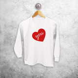 Big heart kids longsleeve shirt