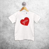 Big heart kids shortsleeve shirt