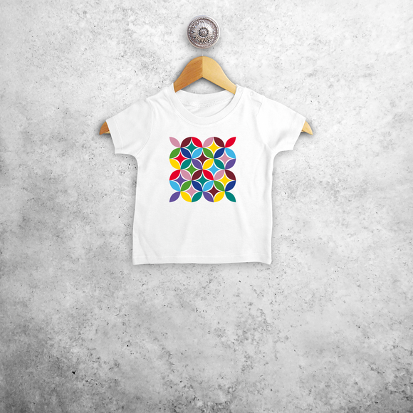 Colourful leaves baby shortsleeve shirt