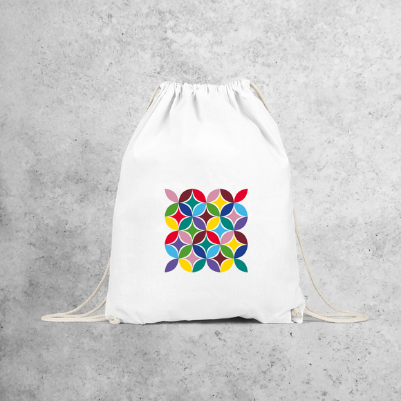 Colourful leaves backpack