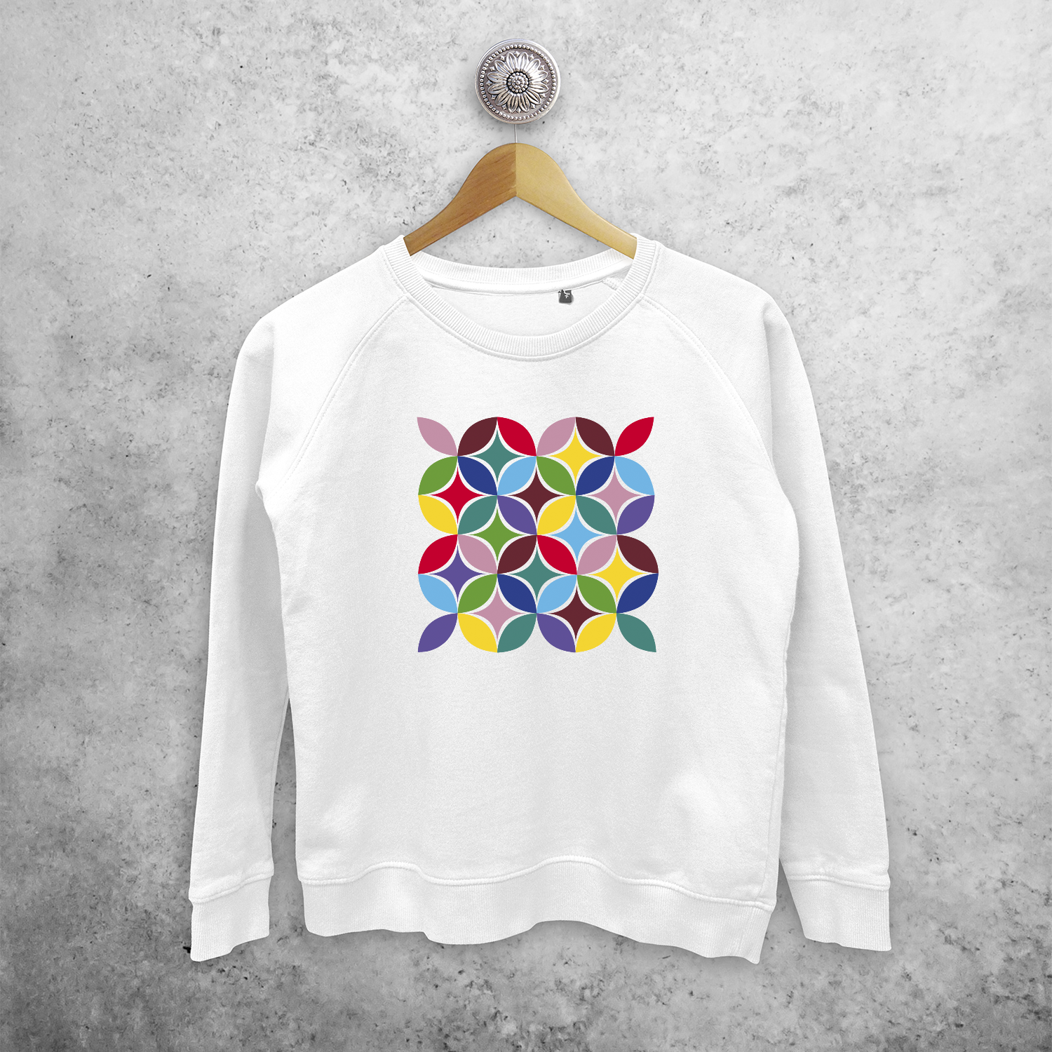 Colourful leaves sweater