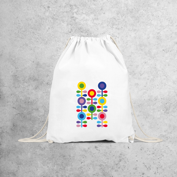 Colourful flowers backpack