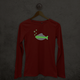Fish glow in the dark adult longsleeve shirt