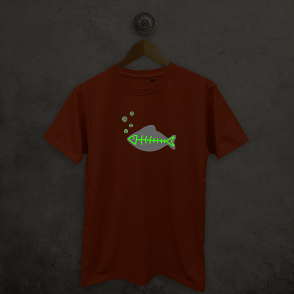 Fish glow in the dark adult shirt
