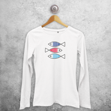 Fish adult longsleeve shirt
