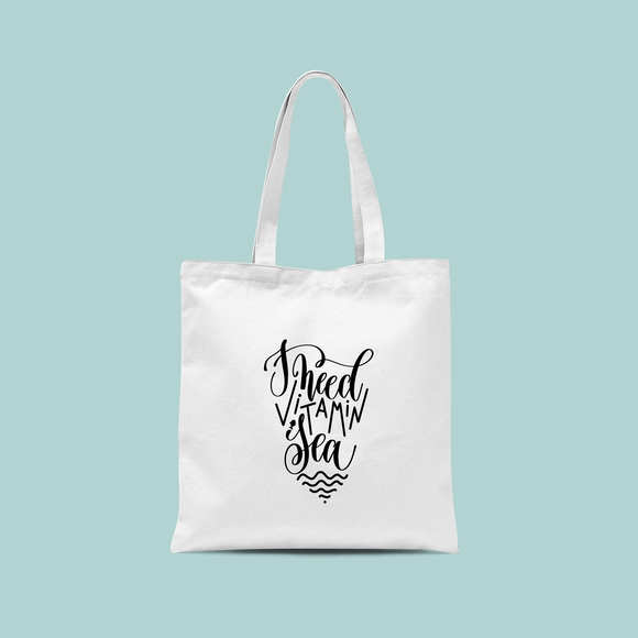 'I need vitamin sea' tote bag