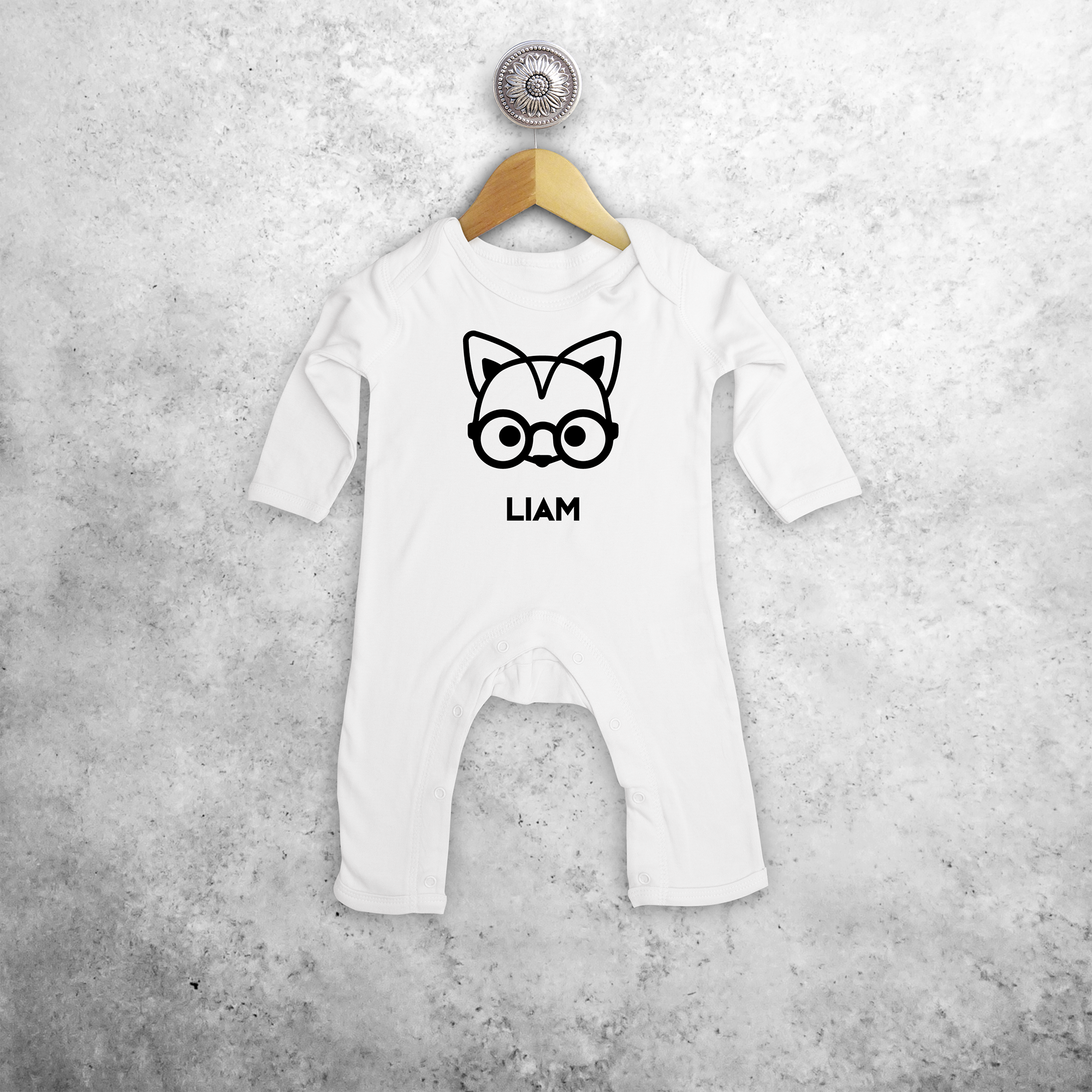 Fox with glasses baby romper