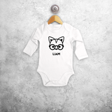 Fox with glasses baby longsleeve bodysuit
