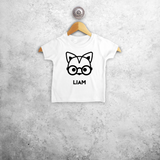 Fox with glasses baby shortsleeve shirt
