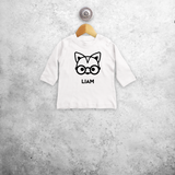 Fox with glasses baby longsleeve shirt