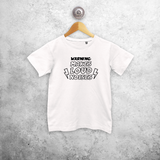 'Warning: makes loud noises' kids shortsleeve shirt