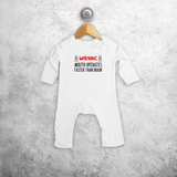 'Warning: mouth operates faster than brain' baby romper