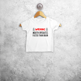 'Warning: mouth operates faster than brain' baby shortsleeve shirt