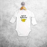 'What's up buttercup' baby longsleeve bodysuit