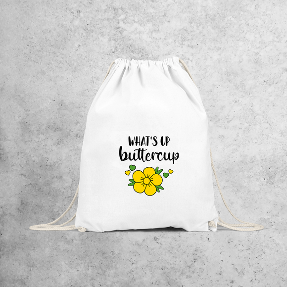 'What's up buttercup' backpack