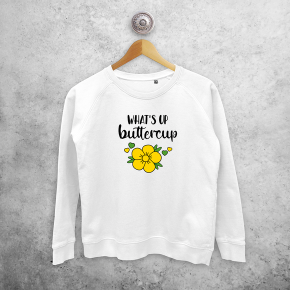 'What's up buttercup' sweater