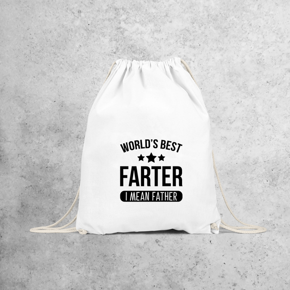 'World's best farter - I mean father' backpack