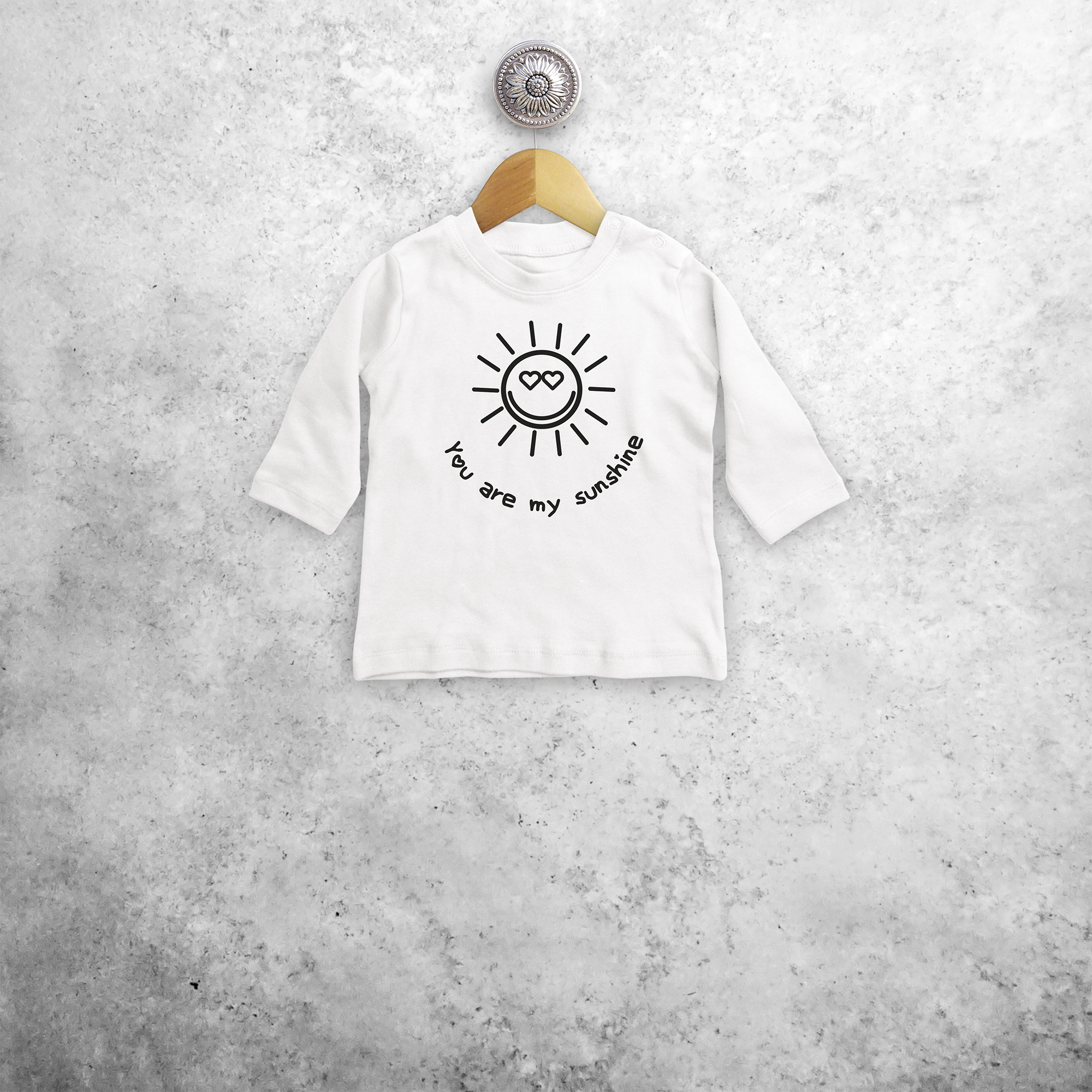 'You are my sunshine' baby shirt met lange mouwen