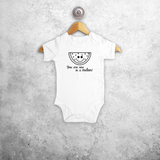 'You are one in a melon' baby shortsleeve bodysuit
