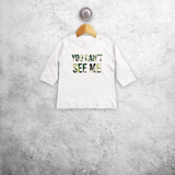 'You can't see me' baby longsleeve shirt