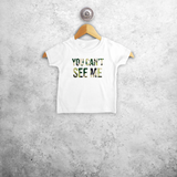 'You can't see me' baby shortsleeve shirt