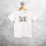'You can't see me' kids shortsleeve shirt