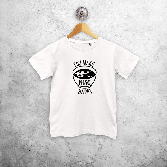 'You make miso happy' kids shortsleeve shirt