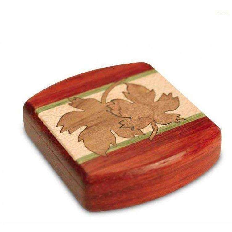 Maple Leaves Marquetry Stash Box