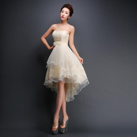 Champagne Sleeveless Prom Dress