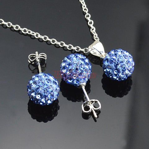 Earrings Necklace Set Fashion Jewelry crystal rhinestone