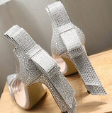 Silver Wedding Shoes High Heels