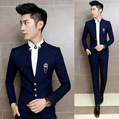 2018 New 2PCS/Set Slim Fit Prom & Men Costume Wedding Suits